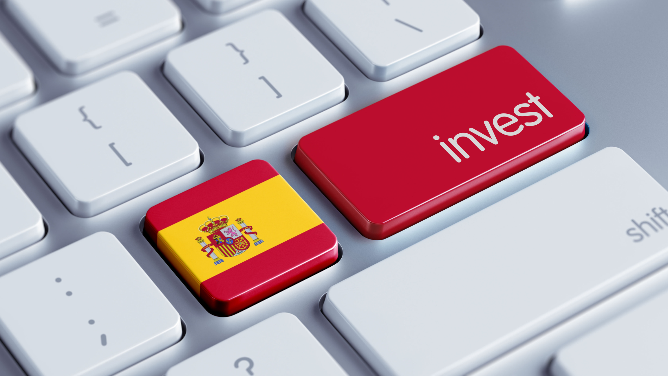 Spain High Resolution Invest Concept
